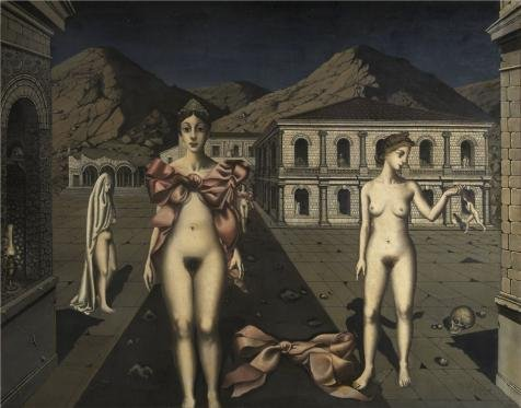 Price comparison product image Perfect Effect Canvas , the Cheap But High Quality Art Decorative Art Decorative Prints On Canvas Of Oil Painting 'Paul Delvaux, The Pink Bows, 1920-1930'