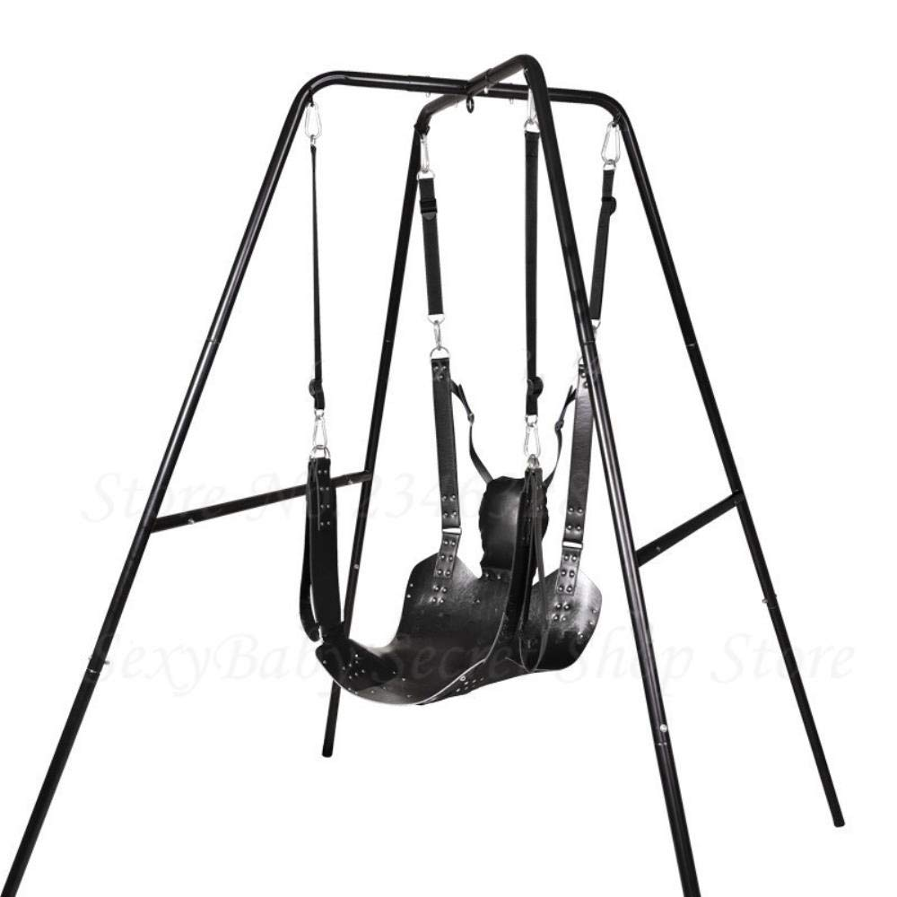 Sex Furnitures Two Layers Leather Sling Sex Hammock Sex Swing Chair Leather Bed Hammock and Pillow Sex Toys for Couple Bondage