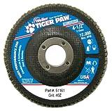 Weiler 51161 Tiger Paw XHD Super High Density Abrasive Flap Disc, Type 27 Flat Style, Phenolic Backing, Zirconia Alumina, 4-1/2'' Diameter, 7/8'' Arbor, 40 Grit, 12000 RPM (Pack of 10)