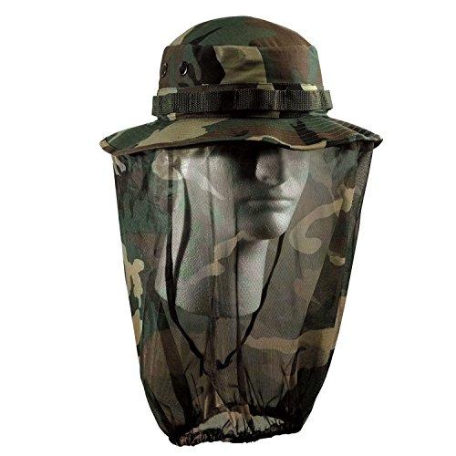 者収まるデコラティブ(ロスコ)Rothco 米軍 ブーニーハット Boonie Hat ウッドランドカモフラージュ(蚊帳付き) XL