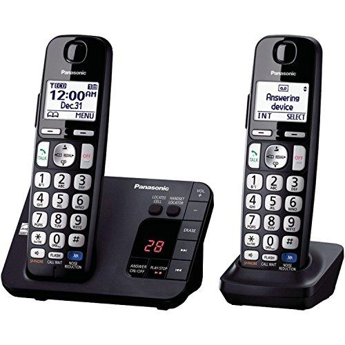 Panasonic KX-TGE232B Cordless Phone, 2 Handsets (Renewed) from Panasonic