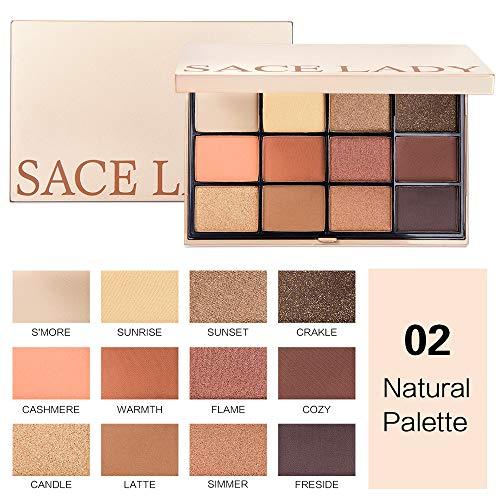 Lowpricenice DaySeventh Matte Pearl Light Eye Shadow Powder Palette Matte Eyeshadow Cosmetic Makeup ()