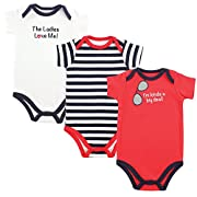 Luvable Friends Baby Sayings Bodysuit 3pk, Big Deal, 0-3 Months