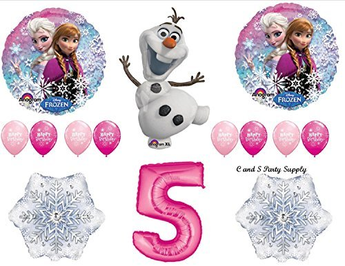 (Frozen Pink 5th Disney Movie BIRTHDAY PARTY Balloons Decorations Supplies by Anagram by)