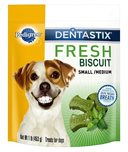 Pedigree Dentastix Fresh Biscuit Small/Medium Treats for Dogs - 1 lb (Pack of 4) (Dental Biscuits)