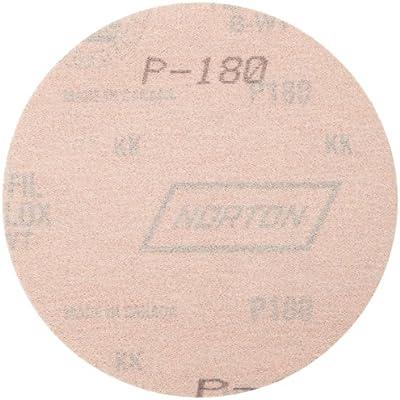 Pressure-Sensitive Adhesive Roll of 100 Grit 80 Norton A275 No-Fil Adalox Paper Abrasive Disc 5 Diameter Fiber Backing Aluminium Oxide