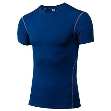 Yunsunshine Camiseta Deportiva Hombre de Manga corta Tops,Hombre Camisetas Deportivas Wicking Quick Dry Tee T-Shirt Sport Tops: Amazon.es: Deportes y aire ...
