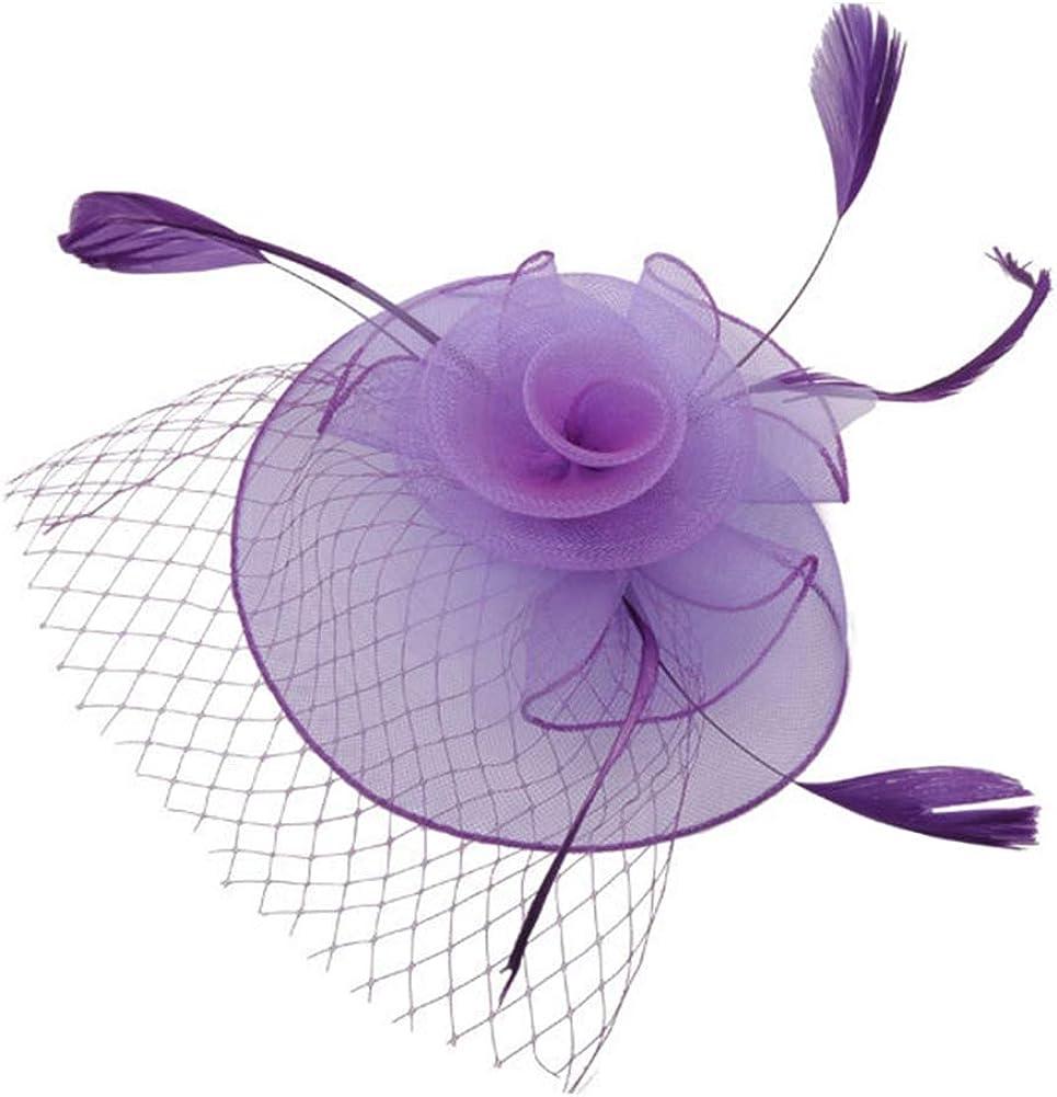 Mini Chapeaux Bibi Broche  Violet Modèle Purple Mariage Cérémonie Soirée