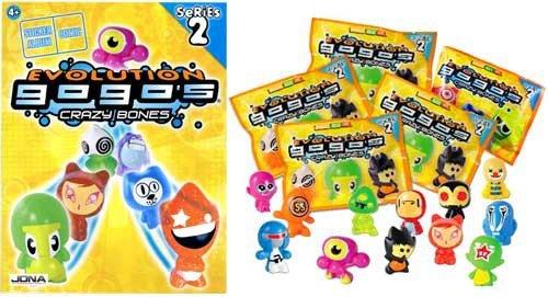 Magic Box Int. Crazy Bones Gogo's Series 2 Evolution Lot of 5 Booster Packs [Free Bonus Album] (Series Crazy Bones 5)