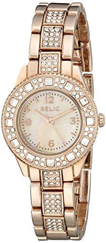 Relic by Fossil Women's Mini Sophia Quartz Stainless Steel Dress Watch, Color: Rose Gold-Tone (Model: ZR34313)