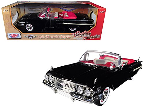 Motormax 1:18 1960 Chevrolet Impala Convertible Vehicle, White