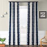 HPD HALF PRICE DRAPES BOCH-KC101A-96 Flambe Room Darkening Curtain 50 x 96 Flambe Blue 1 Panel