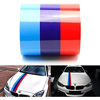 Amazoncom IJDMTOY Wide MColored Stripe Decal Sticker For - Bmw grille stripe decals