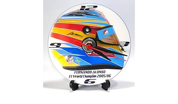 CASCO DE FERNANDO ALONSO RACE * Un CD/DVD (12 cm de diámetro) de diseño de reloj de pared batería sin mantenimiento y soporte de escritorio * SE PUEDE ...