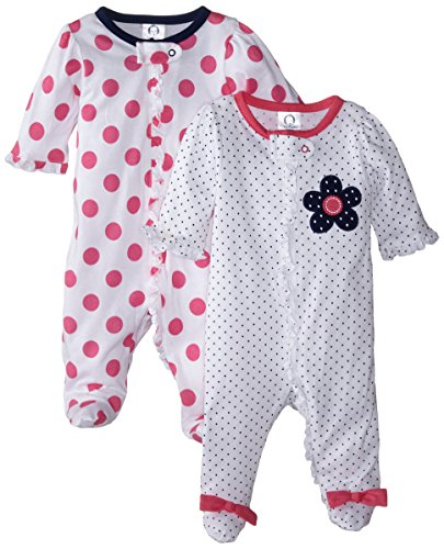 gerber-baby-girls-2-pack-zip-front-sleep-n-playflowers-dots0-3-months