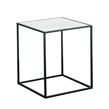 Bon XBBZ Simple Modern Wrought Iron Marble Small Coffee Table, Nordic Living  Room Side Table Bedroom