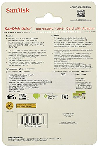 SanDisk Mobile Class4 MicroSDHC Flash Memory Card- SDSDQM-B35A Without Adapter 16GB