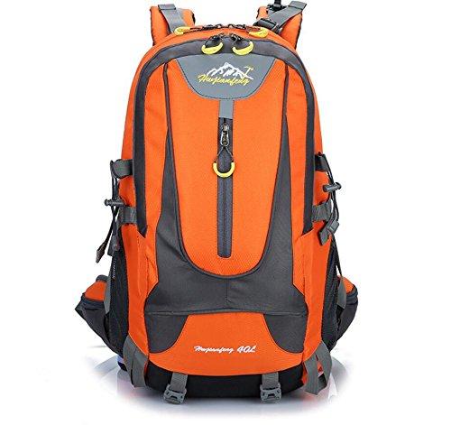 lqabwoutdoor Wild Camp Paket Professionelle Bergsteigen Casual Backpack Paar Tasche, Orange