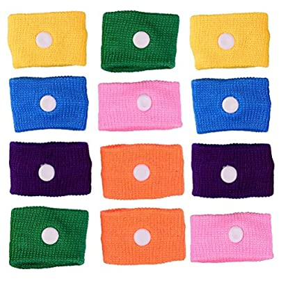 CosCosX PACK Anti Nausea Wrist Bands Nausea Relief Acupressure Wrist Bands Purple Pink Green Orange Yellow Blue Estimated Price £5.99 -