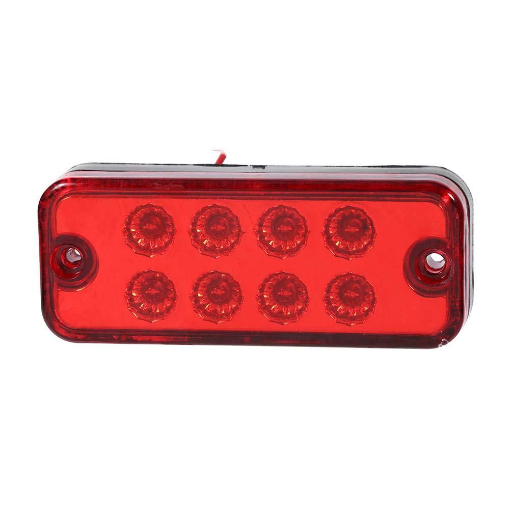 Rouge Fydun Feux de Position Lat/éraux Bonne Transmission 6 Pcs 12V 8 LED Lumi/ère de Signe AS Haute S/écurit/é pour l/éclairage daccident