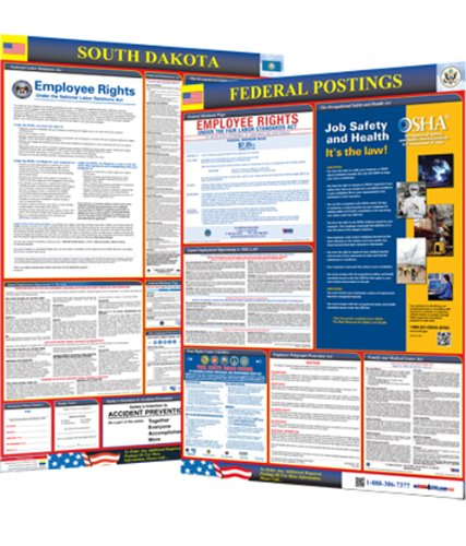 Osha4less South Dakota State and Federal Labor Law Poster (SD-CB)