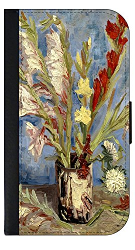 - Artist Vincent Van Gogh's Vase of Gladioli and Chinese Asters - Wallet Phone Case for The iPhone 10 XR - iPhone 10 XR Wallet Case - iPhone XR Wallet Case