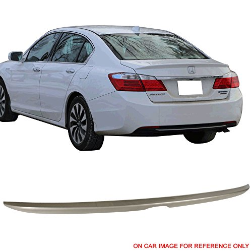 Pre-painted Trunk Spoiler Fits 2013-2016 Honda Accord |OE Style Painted #YR591P Champagne Frost Pearl ABS Trunk Boot Lip Spoiler Wing Deck Lid Other Color Available By IKON MOTORSPORTS | 2014 2015