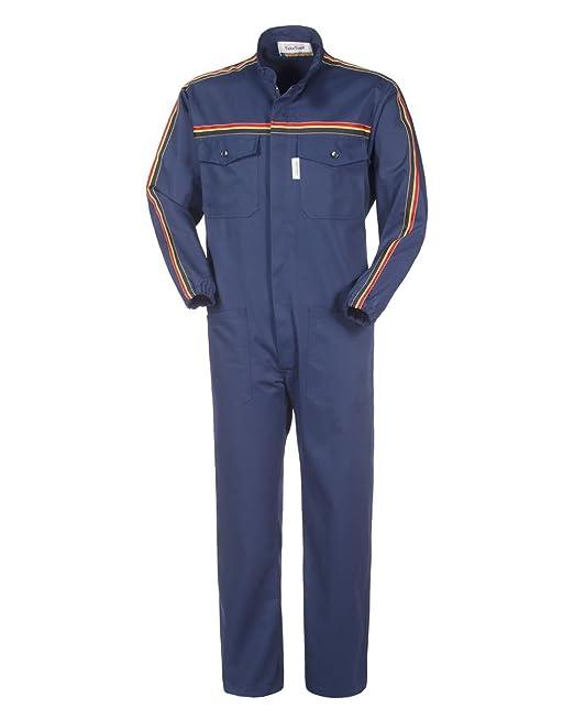 ROSSINI LANCELOT Tuta da Lavoro X Officina Collo Coreana Blu Gabardine  Meccanico A41507  Amazon.it  Abbigliamento dab65e070ca