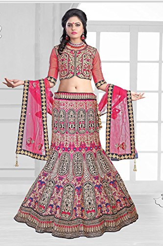 IWS Womens Velvet Fabric Pink Pretty Mermaid Cut Lehenga Style 79523