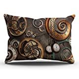 KEIBIKE Pillow Case Vintage Gear Steampunk Personalized Rectangle Pillowcases Fancy Decorative Throw Pillow Covers Cases King 20x36 Inches
