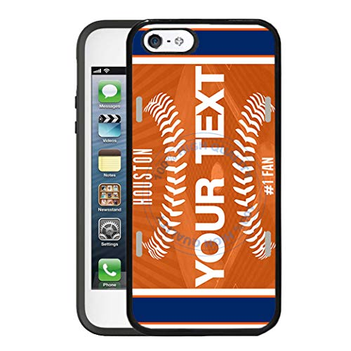 - BRGiftShop Customize Your Own Baseball Team Houston Rubber Phone Case for Apple iPhone 5 5s & iPhone SE