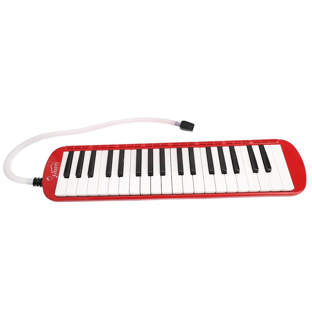 Festnight 37 Key Melodica Mouthpiece Bag Piano Style Pianica with Carrying Bag and Cleaning Cloth 37-Key Portable Melodica Red by Festnight (Image #5)