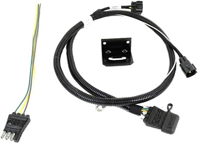 mopar 82209183ab 4 way flat trailer tow wiring harness jeep wrangler:  automotive - amazon.com  amazon.com