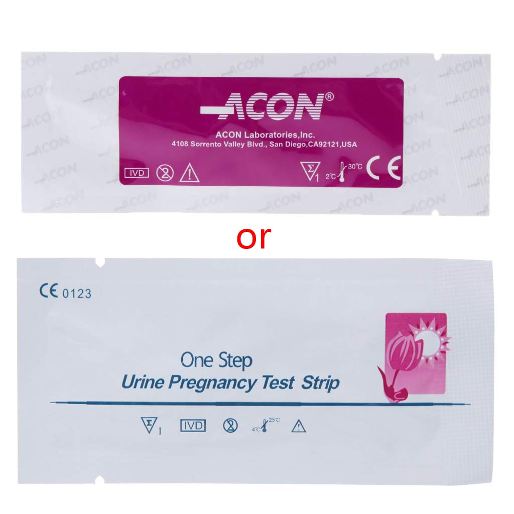 Ronri 20 Pcs Early Home Detection Pregnancy Test Strips Individually Wrapped Sensitiv
