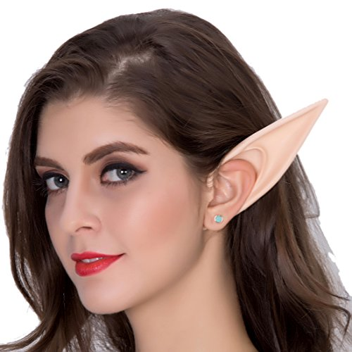 (Max beauty Cosplay Masks Soft Fairy Pixie Elf Ears Accessories Halloween Party Pointed Prosthetic Tips Ear (#2)