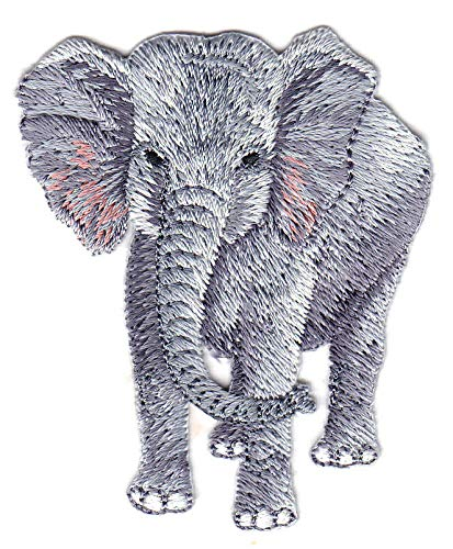 Amazon Com Elephant Jungle Zoo Animal Iron On Embroidered