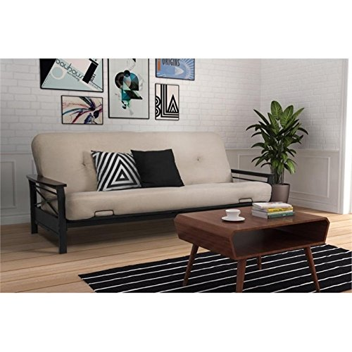Pemberly Row Metal Futon Frame in Black by Pemberly Row