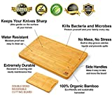 EXTRA LARGE Organic Bamboo Cutting Board with Juice Groove - Kitchen Chopping Board for Meat (Butcher Block) Cheese and Vegetables | Anti Microbial Heavy Duty Serving Tray w/Handles - 18 x