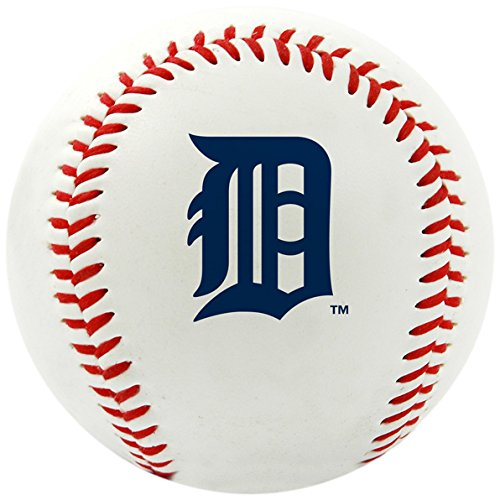 MLB Detroit Tigers Team Logo Baseball Official White