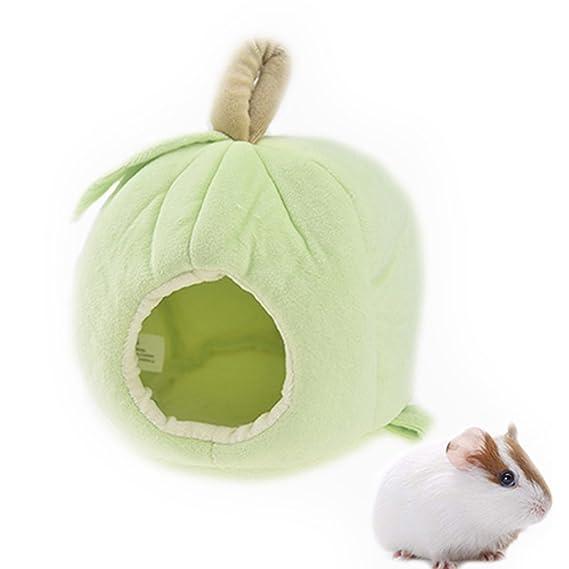 Hamaca colgante para mascotas pequeña, hamaca para casa de invierno con forro polar cálido de cobaya, erizo, chinchilla, cama, caseta, nido, accesorios de ...