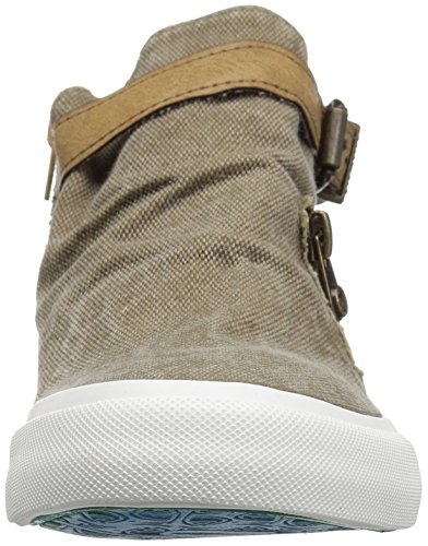 Blowfish Womens Mondo Fashion Sneaker Whisky Smokedozcanvas / Tramonto Pu