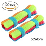 Cord Organizer Cable Ties Reusable Fastening for Cable Management with 100 Pcs 7 Inch Cord Straps Colorful