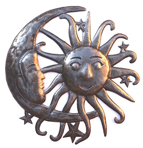 it's cactus - metal art haiti Large Sun and Moon, Artistic Metal Wall Art, Indoor and Outdoor Use, Handmade in Haiti 23