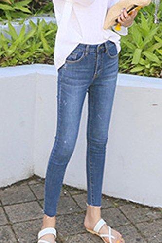 Des Femmes Haute Blue La Jeans Jeans Taille yulinge Taille Et Pantalons Cheville Les q4cwgBxnE