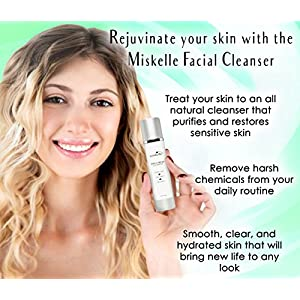 Miskelle 3 In 1 Natural Facial Cleanser, Moisturizer & Exfoliator With Activated Charcoal & Green Tea For Women & Men | Remove Makeup & Impurities, Eliminate Breakouts, Reduce Pores & Hydrate Skin