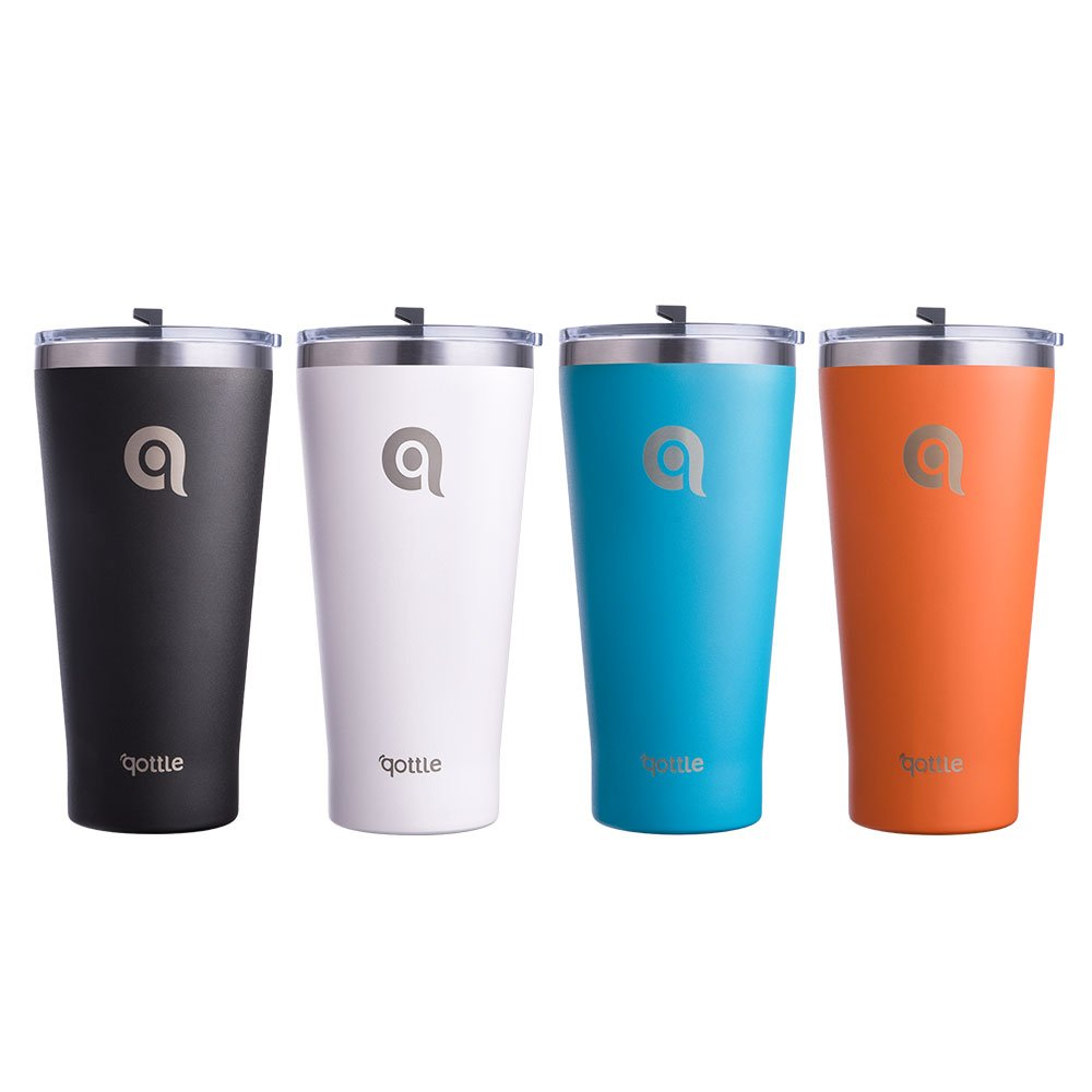 qottle 30oz Travel Coffee Tumbler - Stainless Steel Vacuum Insulated Cup for Family Friends - 4pack 4 Colors