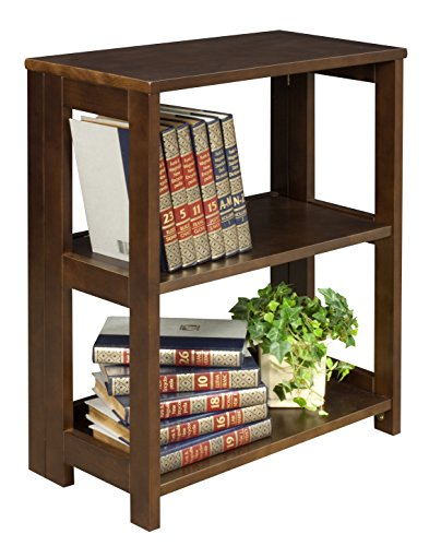 Regency Flip Flop Bookcase, 28 x 22-inches, Mocha Walnut (Bookcase 2 Shelf Deep)