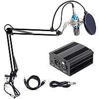 Tonor Pro, Micrófono condensador XLR a 3.5 mm, conjunto de micrófonos condensadores de grabación para estudio de transmisión, micrófonos de computadora