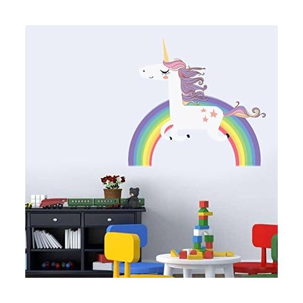 Havenport Rainbow Unicorn Wall Sticker for Girls Bedroom Wall Decal Art Nursery Home Decor 4