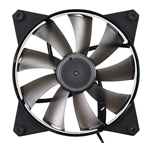 (Cooler Master MasterFan Pro 140 Air Flow- 140mm High Air Flow Black Case Fan,  Computer Cases CPU Coolers and Radiators)